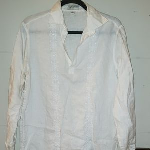 Banana Republic Embroidered Linen pullover Shirt